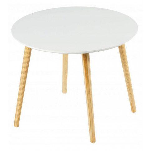 Zdjęcie produktu Okrągły stolik kawowy Flavio 3X - biały .