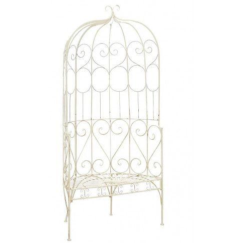 Zdjęcie produktu Klasyczna ławka ogrodowa Yarona - biała.