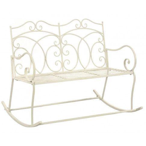Zdjęcie produktu Bujana ławka ogrodowa Dion - biała.