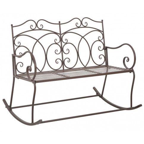 Zdjęcie produktu Bujana ławka ogrodowa Dion - brązowa.