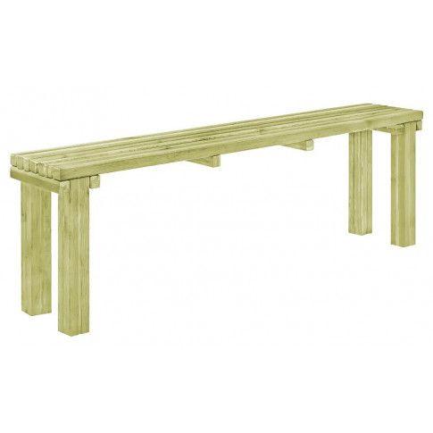 Zdjęcie produktu Drewniana ławka ogrodowa Ligeo - zielona.