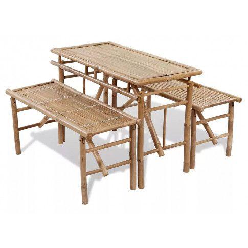 Zdjęcie produktu Zestaw mebli ogrodowych z bambusa Pelander - brązowy.