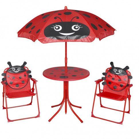 Zdjęcie produktu Zestaw mebli ogrodowych dla dzieci Lummo - czerwony.