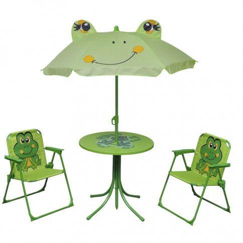 Zdjęcie produktu Zestaw mebli ogrodowych dla dzieci Lummo - zielony.