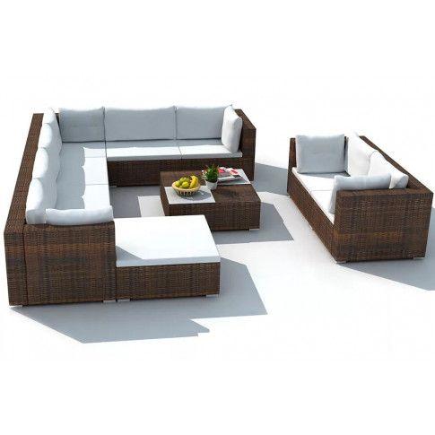 Zdjęcie produktu Zestaw mebli ogrodowych Daran - brązowy.