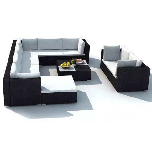 Zdjęcie produktu Zestaw mebli ogrodowych Daran - czarny.