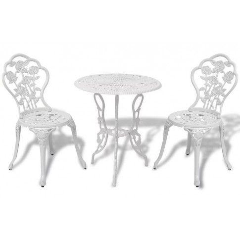 Zdjęcie produktu Zestaw mebli bistro do ogrodu Mesa - biały.