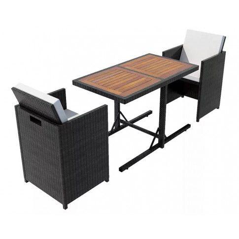 Zdjęcie produktu Elegancki zestaw mebli ogrodowych Stant - czarny.
