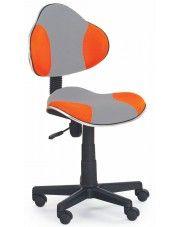 Fotel młodzieżowy Liber - pomarańczowo-szary