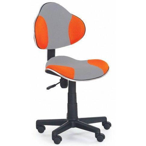 Zdjęcie produktu Fotel młodzieżowy Liber - pomarańczowo-szary.