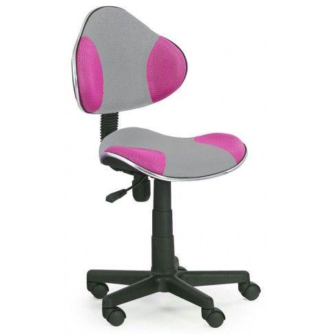 Zdjęcie produktu Fotel młodzieżowy Liber - różowo-szary.