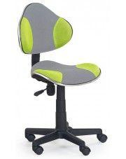 Fotel młodzieżowy Liber - zielono-szary