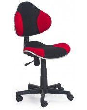 Fotel młodzieżowy Liber - czerwono-czarny