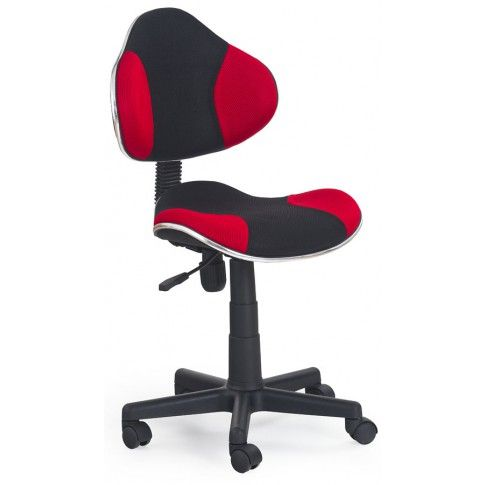 Zdjęcie produktu Fotel młodzieżowy Liber - czerwono-czarny.
