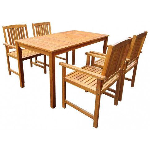 Zdjęcie produktu Drewniany zestaw mebli ogrodowych Kint - brązowy.