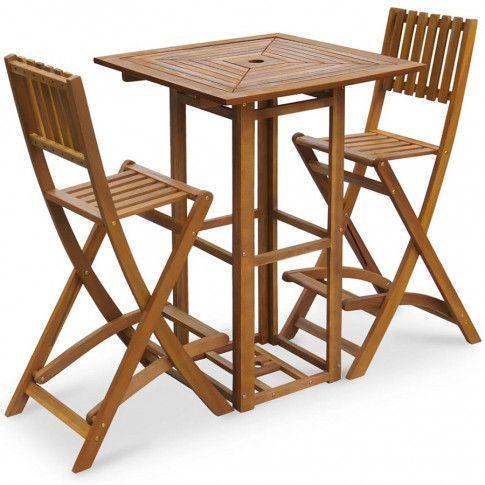 Zdjęcie produktu Zestaw drewnianych mebli ogrodowych - Ashley.