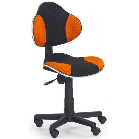 Zdjęcie produktu Fotel młodzieżowy Liber - pomarańczowo-czarny.
