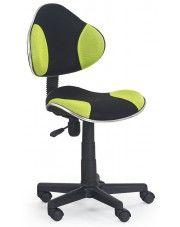 Fotel młodzieżowy Liber - zielono-czarny