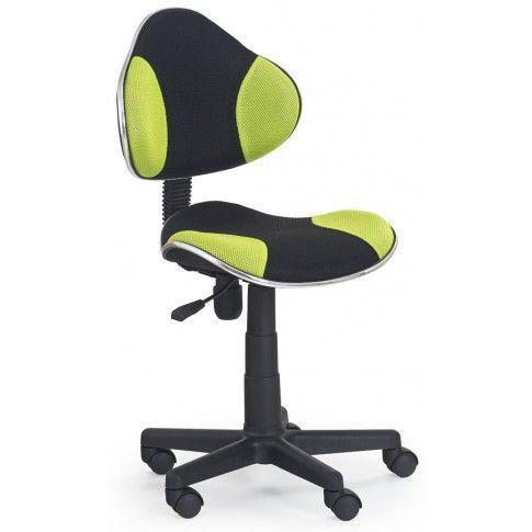 Zdjęcie produktu Fotel młodzieżowy Liber - zielono-czarny.