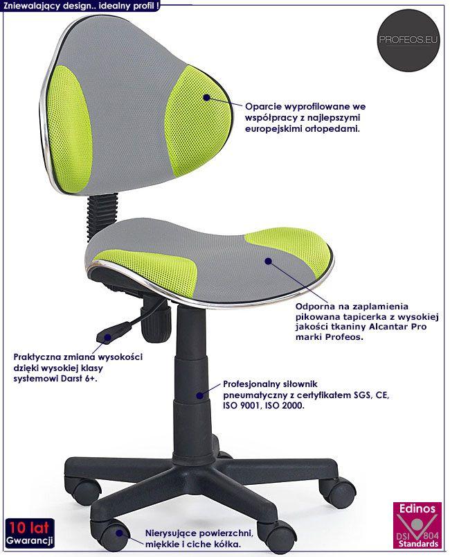 Młodzieżowy fotel do biurka, komputera Liber