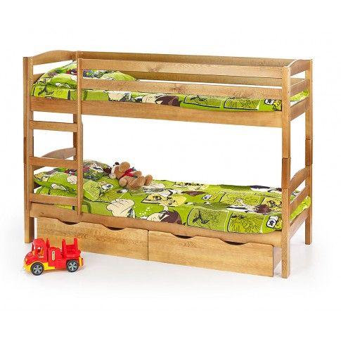 Zdjęcie produktu Drewniane łóżko piętrowe Dixi - 3 kolory.