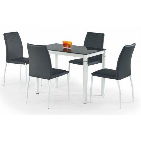 Zdjęcie produktu Stół szklany Rapid - czarny.