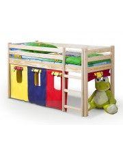 Drewniane łóżko piętrowe Melis w sklepie Edinos.pl