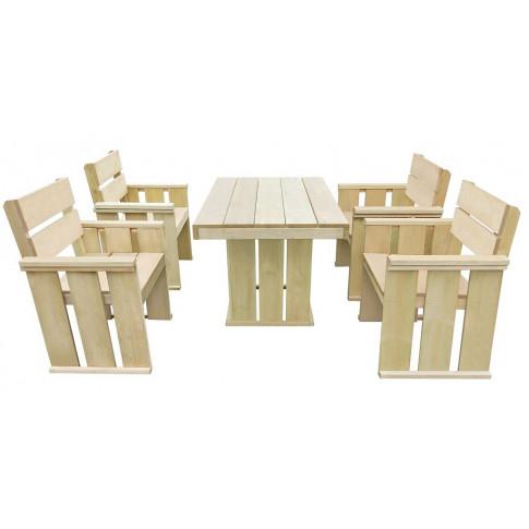 Zestaw drewnianych mebli ogrodowych Maggie 3x