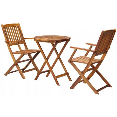 zestaw drewnianych mebli ogrodowych Gemini