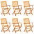 Sześć jednakowych krzeseł z drewnianego zestawu Aubrey