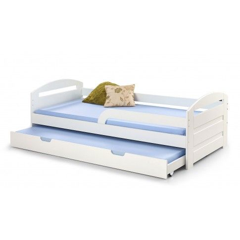 Zdjęcie produktu Białe łóżko rozsuwane 2-osobowe Sistel.
