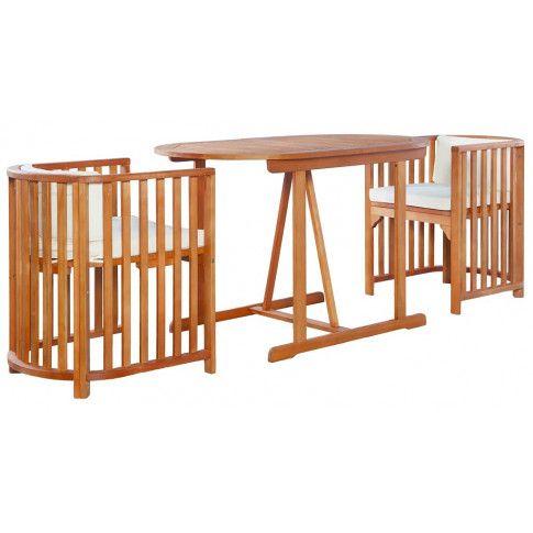 Zdjęcie produktu Zestaw drewnianych mebli ogrodowych - Denton.