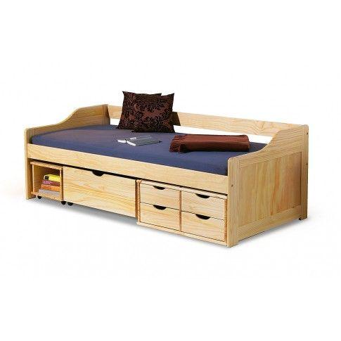 Zdjęcie produktu Jednoosobowe łóżko drewniane z szufladami Nixer.