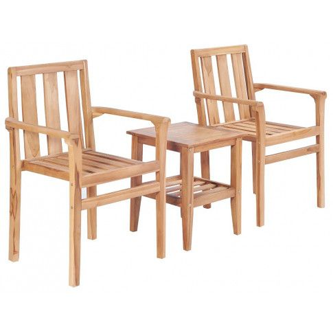 Zdjęcie produktu Zestaw drewnianych mebli ogrodowych - Maver.