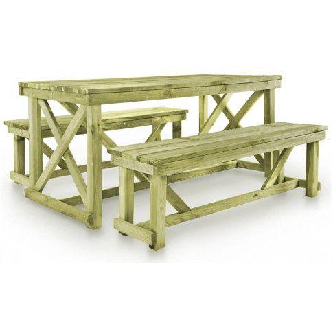 zestaw drewnianych mebli ogrodowych beten
