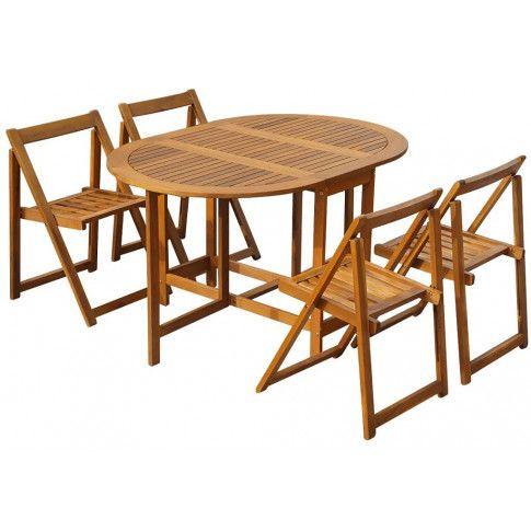 Zdjęcie produktu Zestaw drewnianych mebli ogrodowych Orik - brązowy.