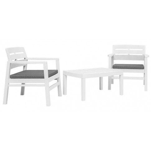 Zdjęcie produktu Komplet mebli ogrodowych Ryvel - biały.