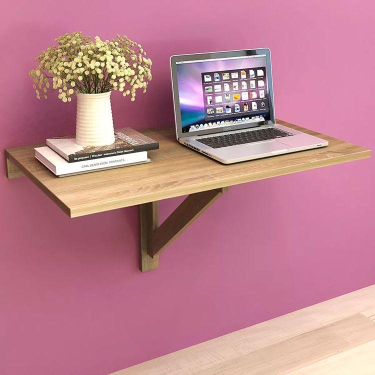 Składany stolik na ścianę w odcieniu dębu Telis