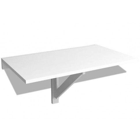 Biały nowoczesny składany stolik przyścienny Telis