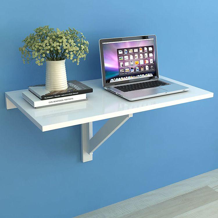składany stolik przyścienny w kolorze białym telis