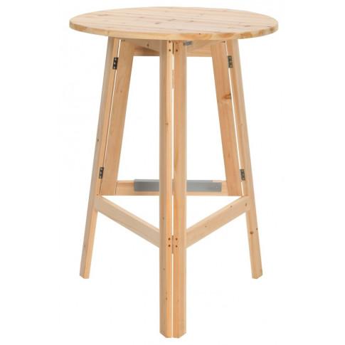 Składany stolik z drewna jodłowego Keller