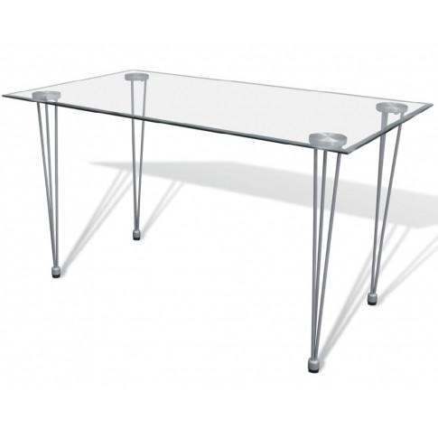 Szklany stół z przezroczystym blatem – Claris