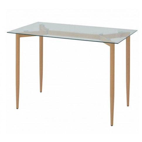 Zdjęcie produktu Stół ze szklanym blatem Kenis – bezbarwny .