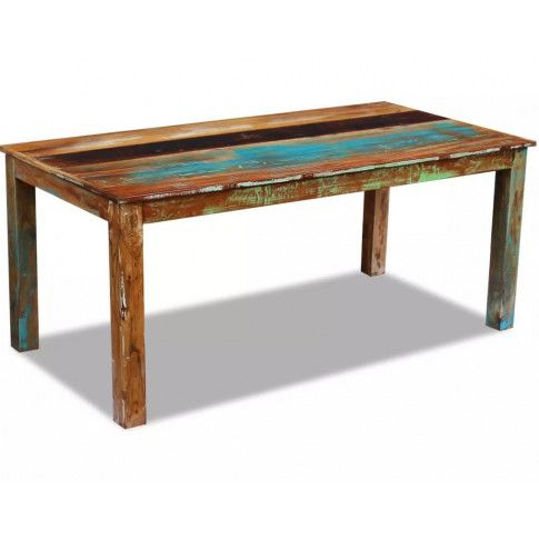 Wielokolorowy stół z drewna odzyskanego Ratel