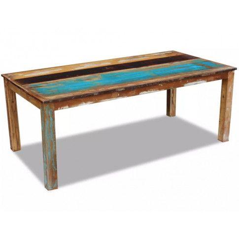 Zdjęcie produktu Wielokolorowy stół z drewna odzyskanego – Ratel 3X.