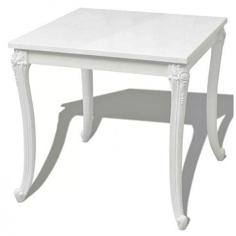 Zdjęcie produktu Kwadratowy stół Avenus 2A - biały połysk.