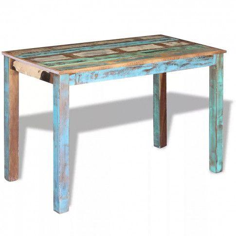 Zdjęcie produktu Stół do jadalni w stylu vintage Mafos – wielokolorowy.