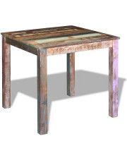 Stół do jadalni z odzyskanego drewna Maler – wielokolorowy