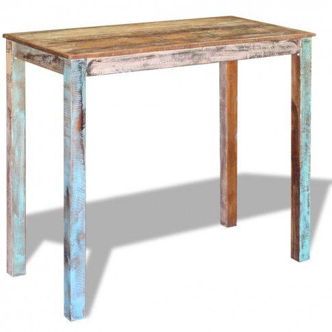 Zdjęcie produktu Stolik barowy z recyklingu Pilen - wielokolorowy.