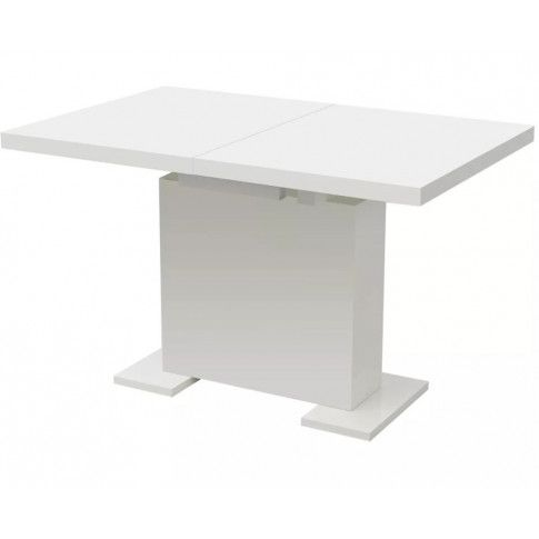 Rozkładany, biały stół z płyty MDF Kangos